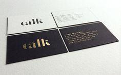 Print : Badcass - Design : Calk Studio - Carte de visite en letterpress - #débossage #dorure