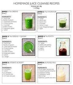 6 Tasty Homemade Juice Cleanse Recipes
