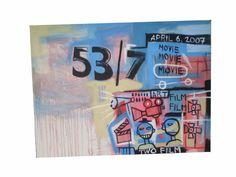 ORIGINAL Street Art Big Urban Painting Canvas Modern Abstract  Basquiat  #Expressionism
