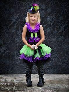 Halloween Witch Pettiskirt Set 12 months 2t 3t 4t 5t by PDABK1012, $75.00