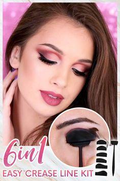 Eyebrow Makeup Tips, Eye Makeup Steps, Beauty Makeup Tips, Contour Makeup, Beauty Make Up, Skin Makeup, Beauty Hacks, Cut Crease Eyeshadow, How To Apply Eyeshadow
