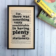 """For There Was Something Very Comfortable..."" from Great Expectations by Charles Dickens Framed Print Wall Art 