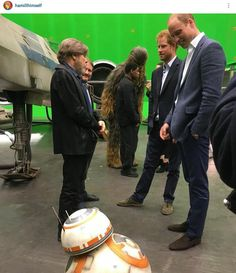 """- Harry: Unsure- But both agreed """"You ARE a little short 4 a Stormtrooper! Prince William And Harry, Prince Harry, Star Wars Set, Mark Hamill, Duke And Duchess, British Royals, Princess Diana, Science Fiction, Celebs"""
