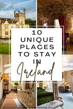 Finding a unique place to stay when traveling is going to be the next big thing when we are finally able to travel again. I've chosen ten accommodations that are perfect for those seeking a unique place to stay in Ireland on your next holiday or, why not? Your staycation. #ireland #travel #irelandtravel Ireland Travel Guide, Dublin Travel, Places To Stay In Ireland, Visit Dublin, Big Thing, Next Holiday, European Travel, Staycation, Amazing Destinations