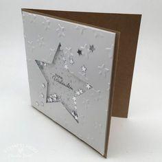 stampin up weihnachten Diy Christmas Star, Stampin Up Christmas, Christmas Cards To Make, Holiday Cards, Merry Christmas, Stampin Up Weihnachten, Star Cards, Beautiful Handmade Cards, Diy Cards