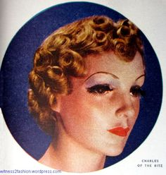 Evening hairstyle for 1936.