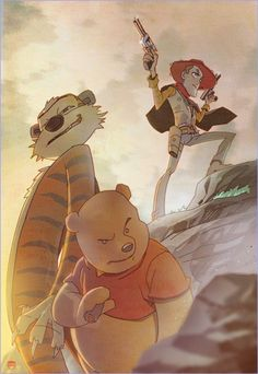 Dystopian Hobbes, Pooh and Woody?