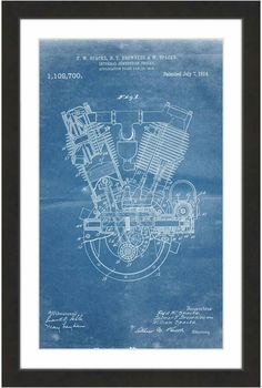 Modern abstract poster design with beautiful organic shapes stock 1914 engine blueprint art malvernweather Images