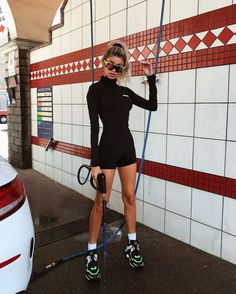 Swans Style is the top online fashion store for women. Shop sexy club dresses, jeans, shoes, bodysuits, skirts and more. Street Style Outfits, Looks Street Style, Mode Outfits, Looks Style, Trendy Outfits, Fashion Outfits, My Style, Fashion Styles, Socks Outfit