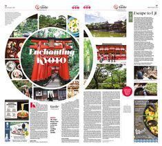 Enchanting Kyoto|Epoch Taste #Travel #Japan #Kyoto #newspaper #editorialdesign
