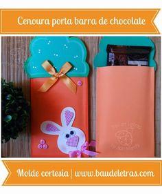 Molde Cenoura Porta barra de chocolates de e.v.a aqui no link!