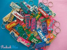 Customized name tags accessories from polymer clay. Polymer Clay Name Tag Accessory - Chicanda | Philippines handmade marketplace