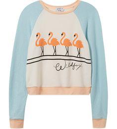 WILDFOX - Block colour flamingo print jumper 7-14 years   Selfridges.com