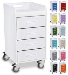 Polyethylene Compact 4 Drawer Locking Cart