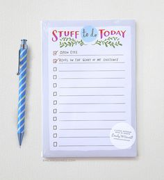 Stuff To Do Today Notepad / Emily McDowell