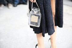 Chanel handbag http://www.vogue.fr/defiles/street-looks/diaporama/street-looks-a-la-fashion-week-de-paris-jour-8-1/15531/image/867055