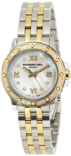 Raymond Weil Women's 5399-SPS-00995 Tango Date Two-Tone 44 Diamonds Watch $1,094.02 (42% OFF)