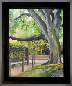 Uptown Oak  Oil painting  Framed by CamilleBarnes on Etsy