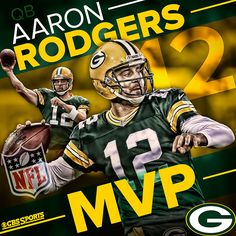 What does 38 touchdowns and just 5 interceptions spell? M-V-P Congrats to Green Bay Packers quarterback Aaron Rodgers. Green Bay Packers Quarterbacks, Packers Baby, Green Bay Packers Fans, Packers Football, Nfl Green Bay, Greenbay Packers, Aaron Rodgers, American Football, Pro Football Teams