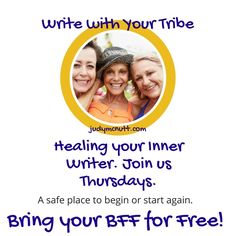 Writing with your Tribe inspires, energizes, and supports your practice and your life. You always do for others, do something sweet for you!  Here's the link- http://booking.judymcnutt.com