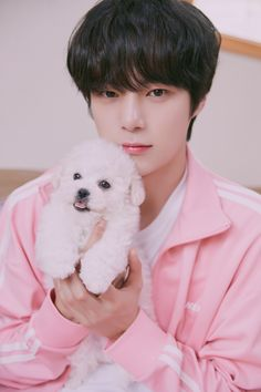 Monbebes will surely lovingly gaze at the boys of MONSTA X the same way they looked at these puppies in the new photos from TWOTUCKGOM! Monsta X Minhyuk, Lee Minhyuk, Kihyun, Shownu, K Pop, V Bts Cute, Puppy Day, Korea, Kpop Guys