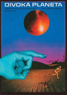 Fantastic Planet (1973). Czech poster, by Mrazek Alexej