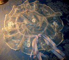 antique french lace bonnet