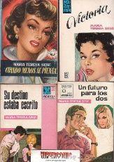 MARIA TERESA SESE / LOTE DE 4 EJEMPLARES, COLECCION MADREPERLA - NOVELAS ROMANTICAS AÑOS 70
