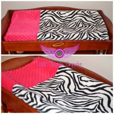 Zebra Print and Pink Changing Pad Cover by LittleAngelsEmporium, $25.00
