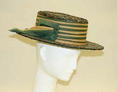 1919, America - Boater - Straw, silk