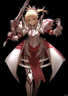 Saber of Red, by Famepeera