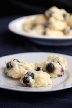 Blueberry lemon yogurt cookies - Light and airy, these Greek yogurt cookies are a sweet after-dinner treat that take less than an hour to make. Simply whisk together flour, yogurt, sugar, vanilla, lemon zest, and blueberries, then chill and bake!