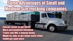 Small to Medium Sized Local Trucking Companies Hiring Small Pickup Trucks, Big Rig Trucks, Truck Driving Jobs, Trucker Quotes, Truck Memes, Companies Hiring, Heavy Truck, Hot Shots, Diesel Trucks