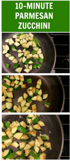 Easy Parmesan Zucchini is one healthy side that pairs well with any main dish. All you need is 4 ingredients, 10 minutes, and one hot skillet! Healthy Summer Recipes, Summer Salad Recipes, Summer Salads, Clean Recipes, Healthy Dinners, Healthy Food, Healthy Sides, Healthy Side Dishes, Side Dish Recipes