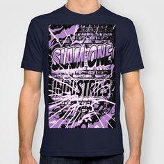 Slam 1 Industries Broken Glass Purple T-shirt by SLAM ONE INDUSTRIES - $22.00
