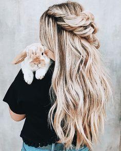 twisted braid half up hair style