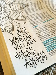 Bible Journaling -- this is SO amazing! Could you imagine passing this down for generations???