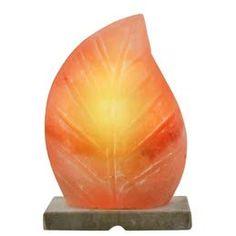 Salt Stone Lamp, Salt Rock Lamp, Himalayan Salt Benefits, Himalayan Rock Salt Lamp, Mood Lamps, Natural Salt, Light Orange, Leaf Shapes, Lamp Design
