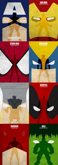 Dispensaria as silhouettes, mas tá valendo. by Melissa Jallit Marvel movie concept posters