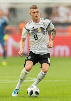 LEVERKUSEN, GERMANY - JUNE Toni Kroos of Germany runs with the ball during the International Friendly football match between Germany and Saudi Arabia at BayArena on June 2018 in Leverkusen, Germany. (Photo by Boris Streubel/Getty Images) Toni Kroos, Football Match, Football Players, Germany National Football Team, Thomas Muller, James Rodriguez, June 8, World Football, Light Of My Life