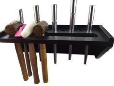 Jewellers Hammer & Ring Mandrel Work Bench Tool Holder Rack with Magnetic Side. J1418