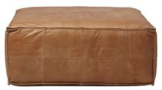 Square leather pouf - depending on room set up, could be living room option - $549