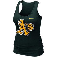 Nike Oakland Athletics Ladies Premium Big Logo Tank Top - Green