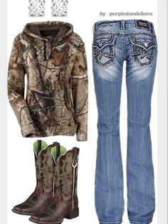Camp, jeans, & boots(: Perfect outfit