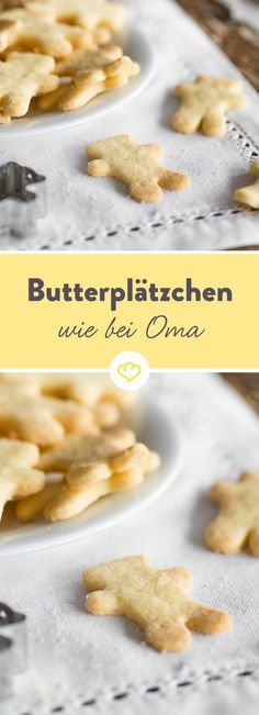 Kaum ein anderes Plätzchenrezept schmeckt so sehr nach Omas Weihnachtsbäckerei… Virtually no other cookie recipe has the same taste as Grandma's Christmas bakery, like those Ausstecherle butter cookies. Baking Recipes, Cookie Recipes, Easy Holiday Cookies, Brunch, Buttery Cookies, Butter Recipe, Pastry Recipe, Cookies Et Biscuits, Christmas Baking