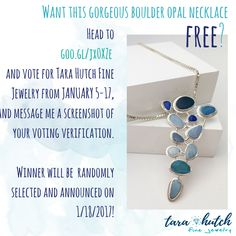 Win this boulder opal necklace FREE! Help us win the StreetShares Veterans Grant! The voting and our contest both end in January 18th, so click on the picture and vote now!