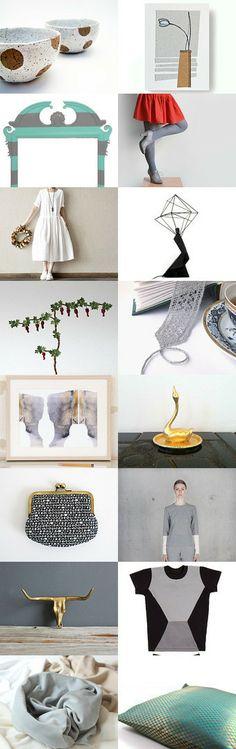 Gray tulip by Mixer Fashion on Etsy--Pinned with TreasuryPin.com