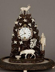 1stdibs.com | Fine Carved Ivory Mantle Clock, Austria Ca. 1850