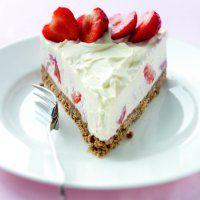 Strawberry creme fraiche cheesecake