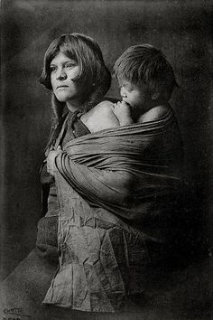 Hopi mother, 1922 by Edward S. Curtis(1868-1952).....intense and wonderful  picture...